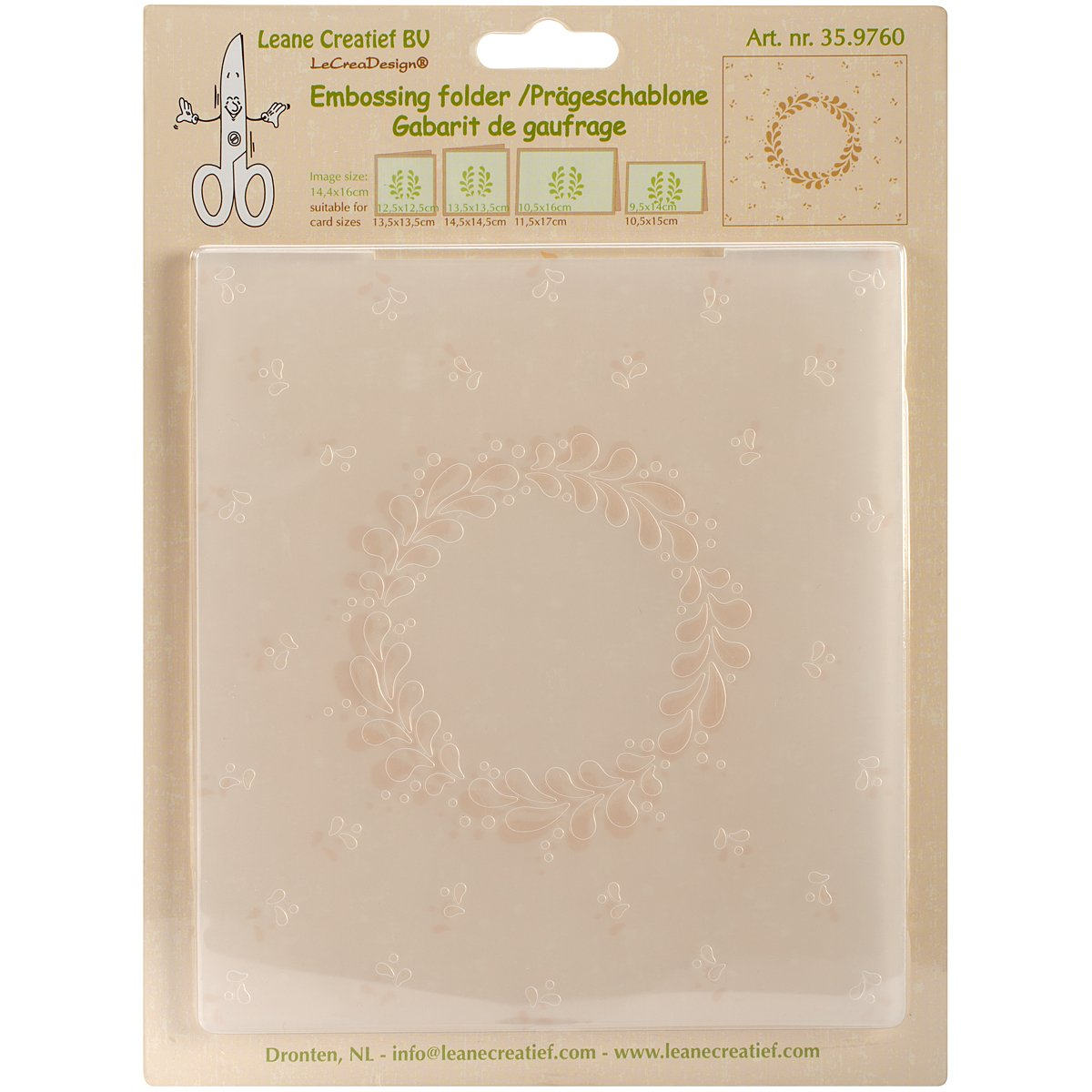 Ecstasy Crafts Leane Creatief Embossing Folder, Frame, 5.75 by 6.375-Inch by Ecstasy Crafts