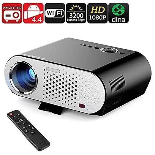 Mini proyectores Proyector de video HD, 3200 lúmenes LED WiFi ...