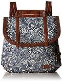 Sakroots Women's Artist Circle Convertible Backpack, Navy Spirit Desert