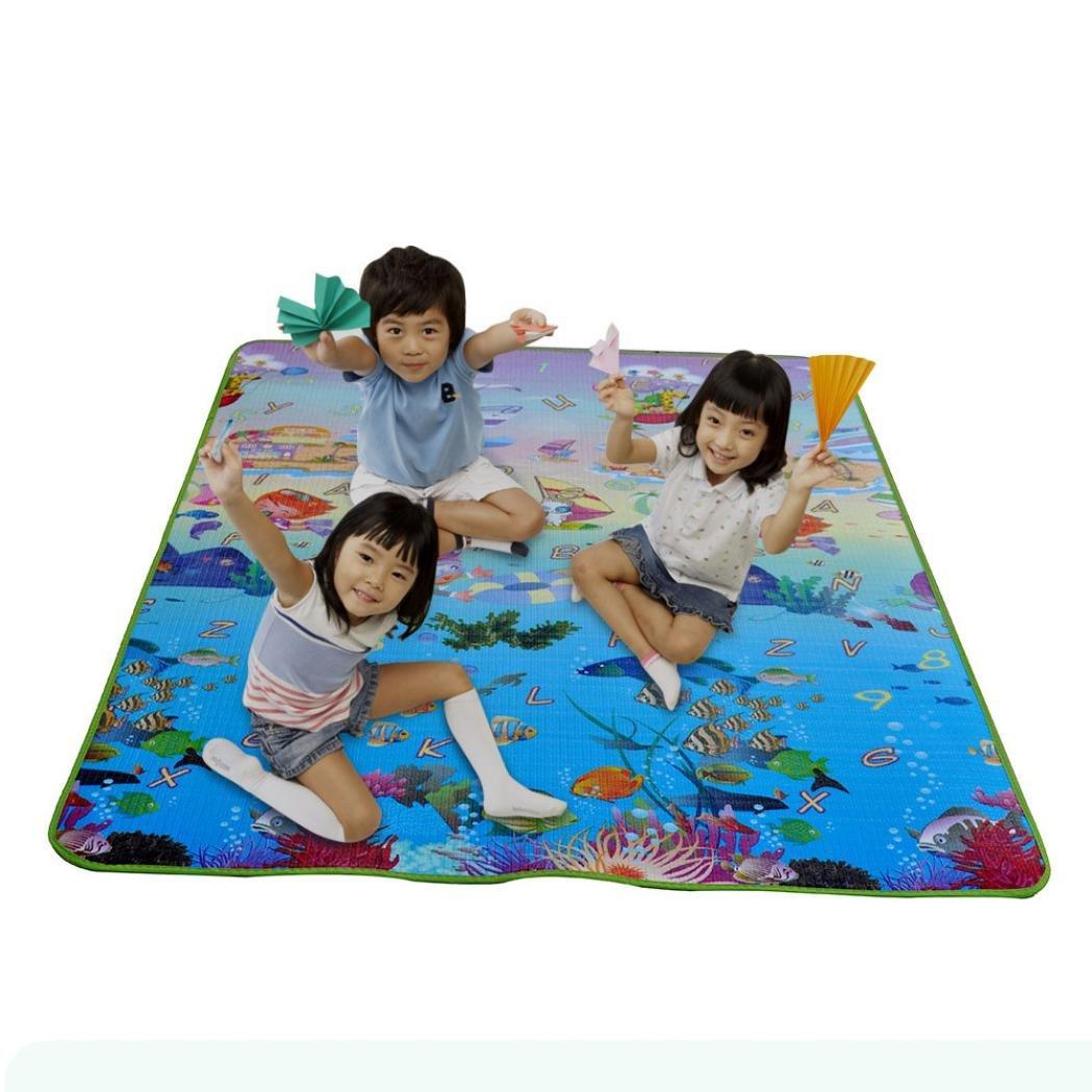 Tuscom Baby Kids Toddler Crawl Play Game Picnic Carpet Beach Electronic (200×180×0.5CM) (Ocean)