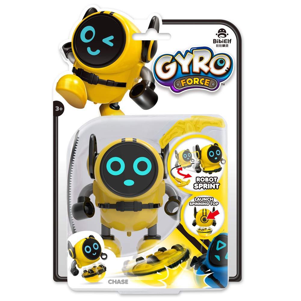 LEACO Gyro car Caliper gyro Clockwork Toy Inertia car Robot Force Control gyro Multiple Gameplay Mode Yellow