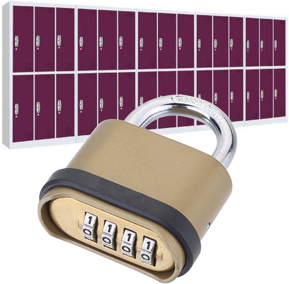 Margot74 Combination Padlock Anti Theft Alloy Combination Lock Outdoor Home Security Gate Digit Combination Door Padlock Code