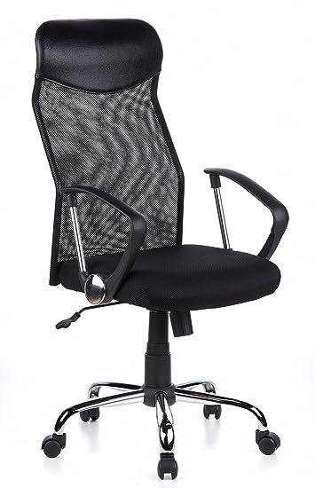 Schreibtischstühle Ergonomisch hjh office 634000 bürostuhl chefsessel futura 2200 netzstoff schwarz