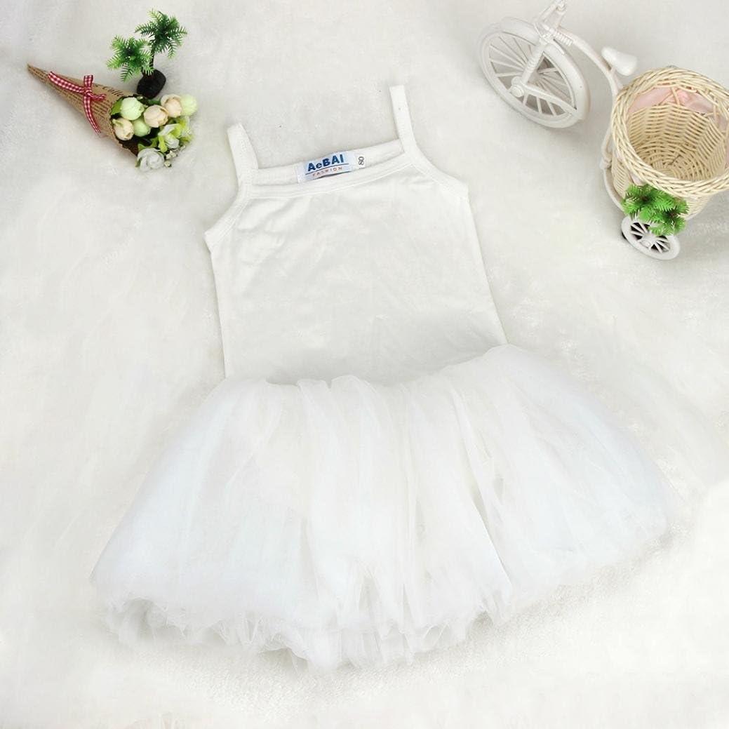 Clode for 0-5 Years Old Girls Sling Vest Dress Children Rompers Ballet Dress Tutu Cake Veil Dress