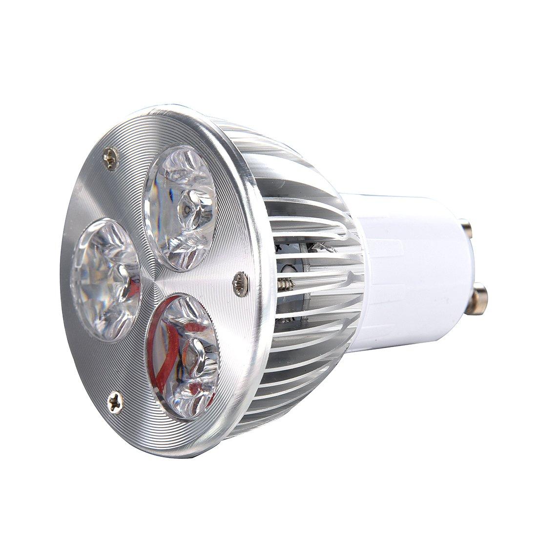 Spotlight - SODIAL(R) GU10 3W 3 LED high power spot light bulb lamp light DC 12V Warm White