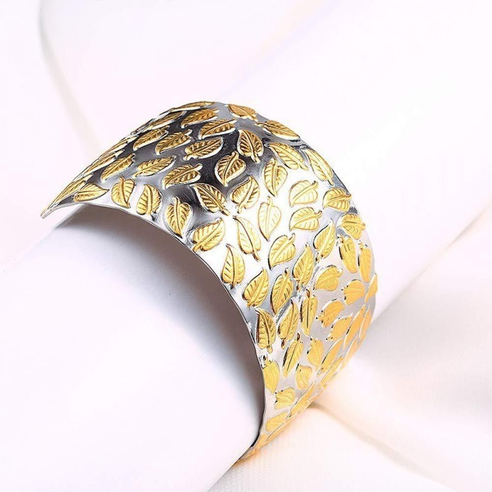 【通販激安】 Burenqiファッションシンプルバングルスライバーローズゴールドカラーステンレススチールチャームカフバングルブレスレット付きゴールド葉付き女性、シルバーゴールドトーン B07K6HSQN4 B07K6HSQN4, アナミズマチ:41e4e53a --- a0267596.xsph.ru