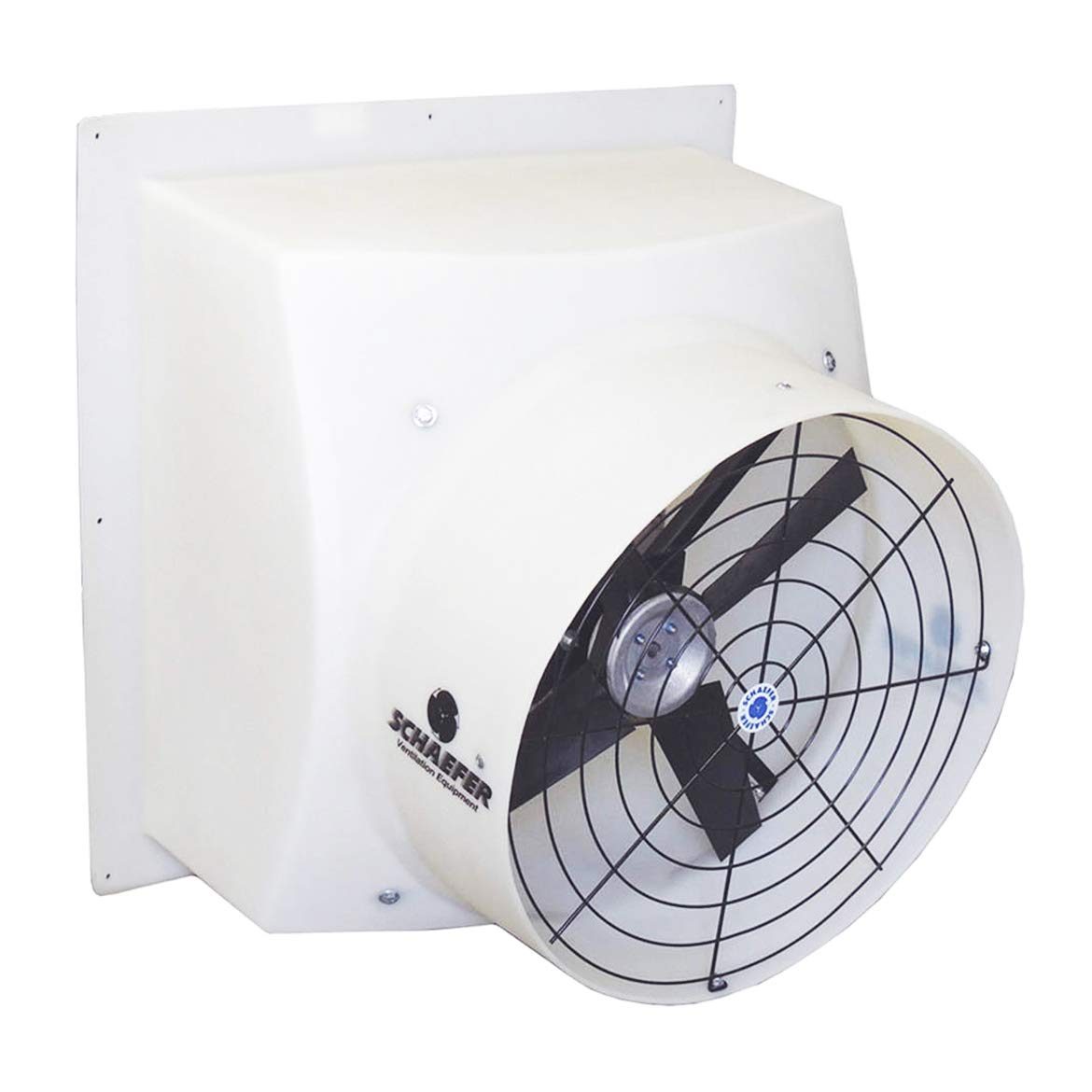 1//4 hp Black SCHAEFER TG18-3WB Tuff and Gusty 18 3 Speed Wall Mount Blade Material: Aluminum