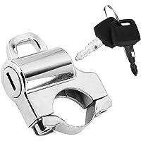 Duokon 22mm Manillares Moto Casco de bloqueo, Universal motocicleta Casco Bloqueo de seguridad Candado con 2 llaves…