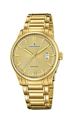 Candino Reloj Análogo clásico para Hombre de Cuarzo con Correa en Acero Inoxidable C4692/2: Amazon.es: Relojes