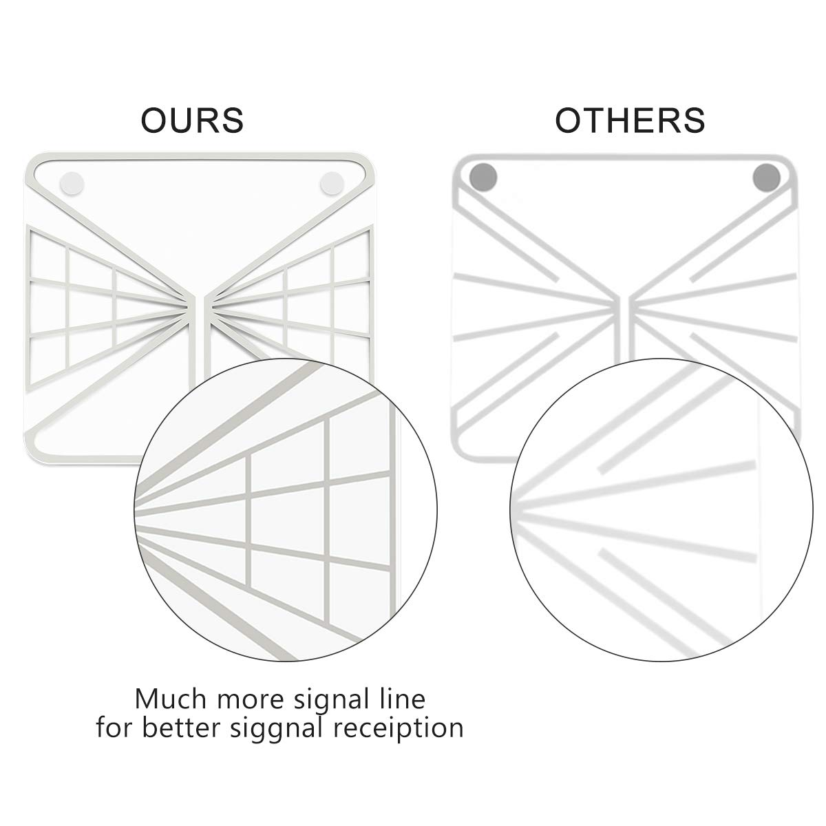 TV Antennas - Newest Ultrathin Transparent Design 1080P ATSC 60 Miles Indoor Digital HDTV Antenna Upgraded Ready for Free Chennels