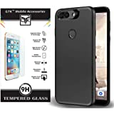 TheGiftKart Rubberized Matte Back Cover and Tempered Glass for InFocus Vision 3 Pro