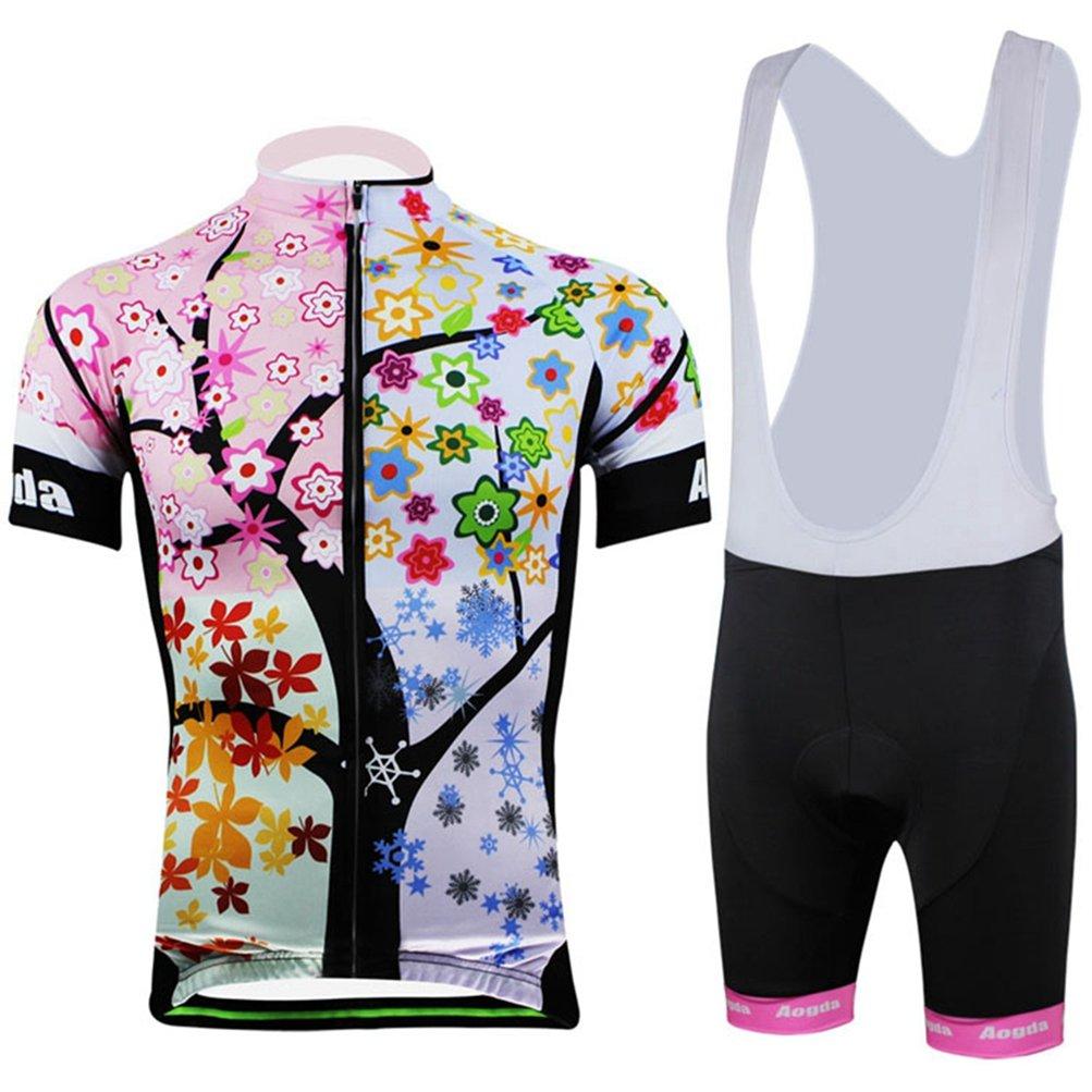 Uriah Women 's Cycling Jersey Bib Shortsセットポリエステル半袖 B071F2G76V Chest 37''=Tag XL|Branch Leaves Branch Leaves Chest 37''=Tag XL