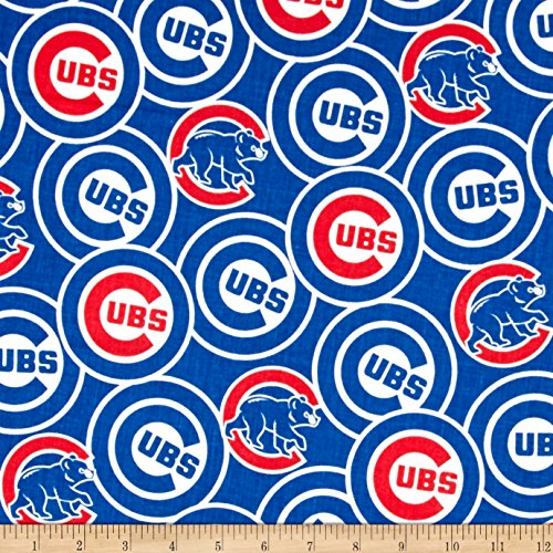 - Fabric Traditions Chicago Cubs Cotton Broadcloth Blue Fabric by The Yard,