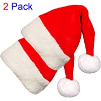 2-Pack Blevla Plush Christmas Santa Hat
