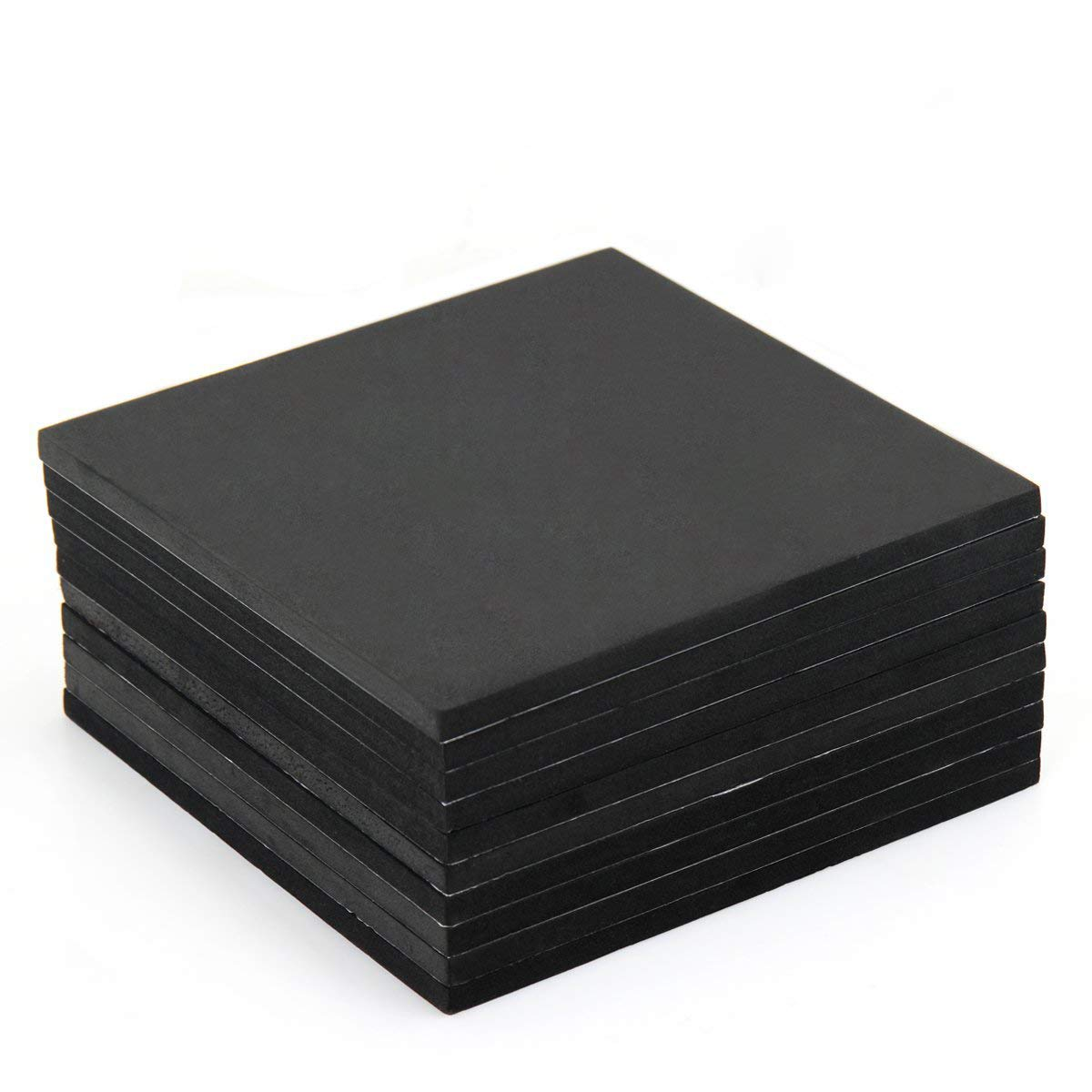 10-Piece Neoprene Sponge Foam Rubber Sheet & Pad with Adhesive By AUSPA 7 in x 7 in x 1/3'' Thick (#5)