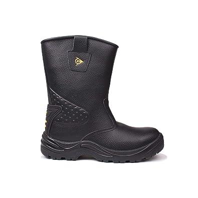 07e2644df00b DUNLOP Safety Herren Rigger Arbeitsstiefel Wasserdicht Stiefel Sicherheit  Schuhe Schwarz 8 (42)
