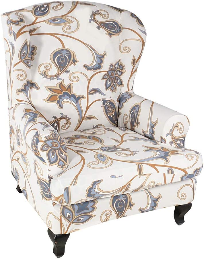 Oraunent Wing Chair Covers Wingback Chair Slipcovers with Arms Furniture Protector Cover Set of 2#10 One Size