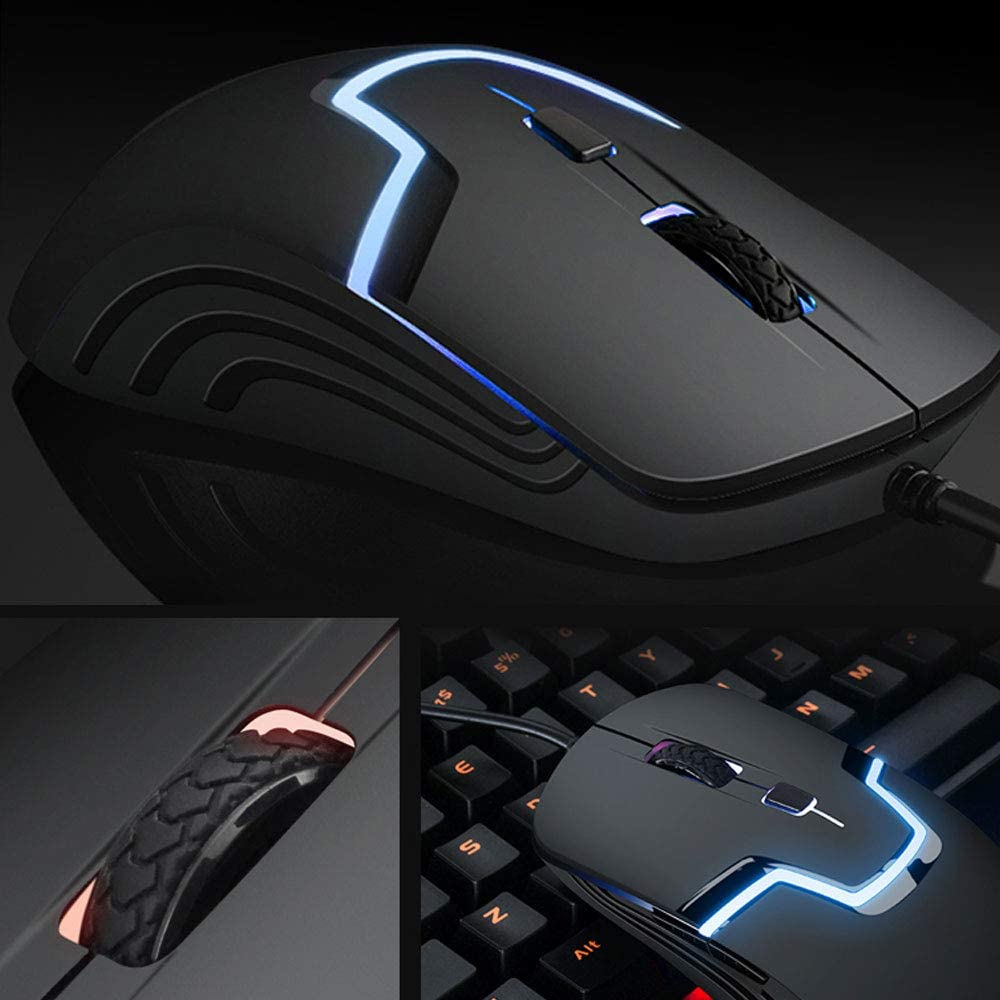 Mouse Gaming Wired Mouse Led Light Backlit Mouse Ergonomic Adjustable Mouse Silent Computer Mice