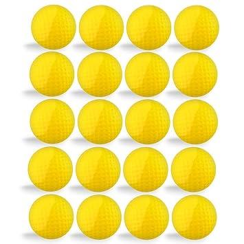 Pelotas de golf, 20 unidades, petforu práctica bolas esponja de espuma de poliuretano de