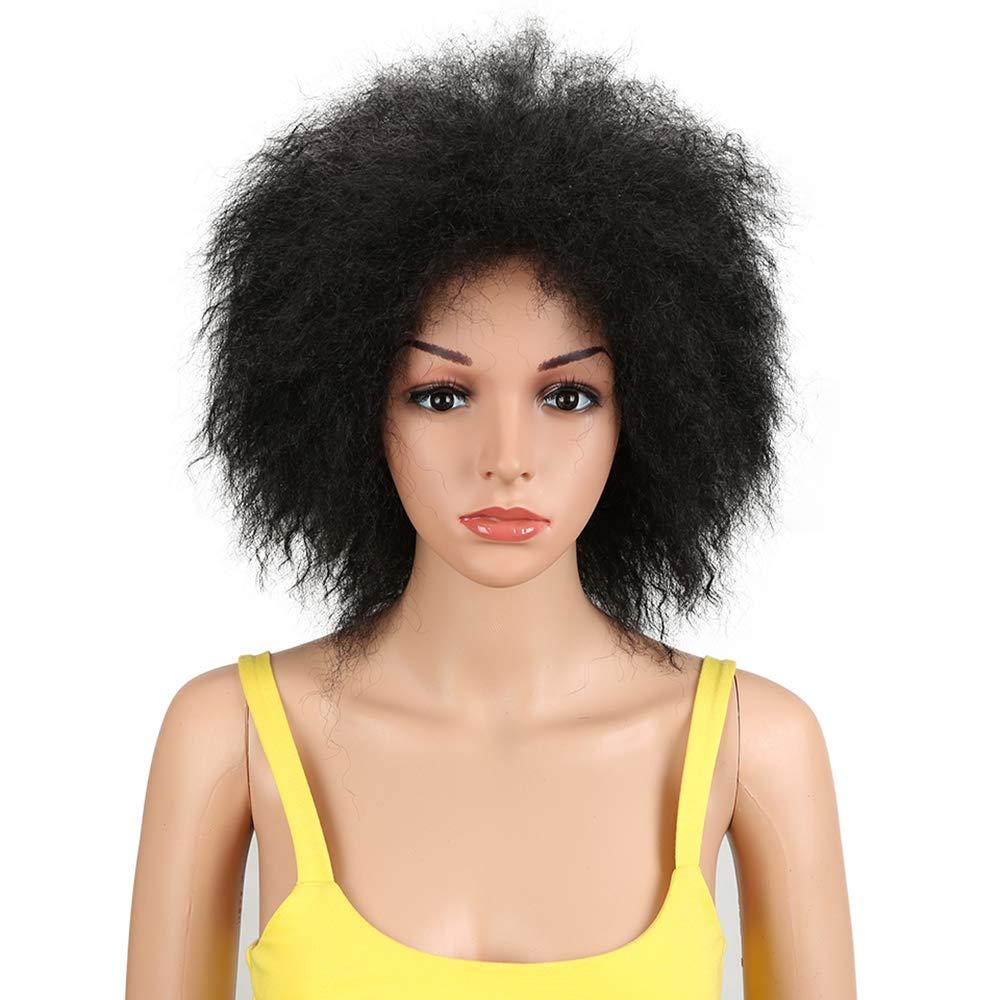 forma única negro SHJBKP Peluca rizada rizada Negra sintética del Pelo sintético sintético sintético Pelucas de 8 Pulgadas para Las Mujeres Peluca de la Naturaleza  Venta en línea de descuento de fábrica