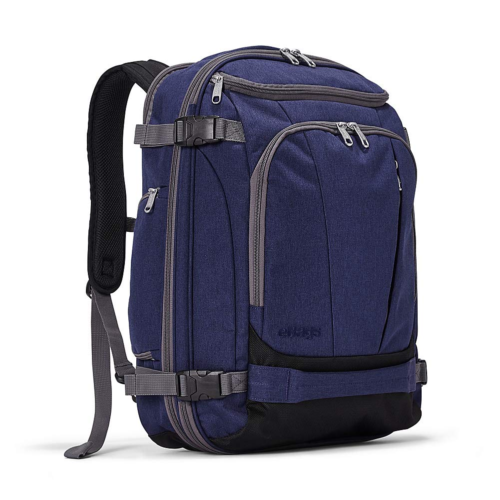 eBags TLS Mother Lode Weekender Junior 19 Inch Carry-On Travel Backpack - Fits Up to 17.5 Inch Laptop - (Brushed Indigo)