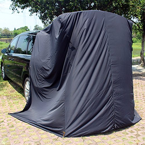 HCRH SUV Tailgating Privacy Shelter Great Waterproof & Lightweight Privacy Portable Camping Biking Toilet Shower Beach and Changing Room LWH:5.94.26.6ft Suction Cups Tent Pegs to fix by HCRH