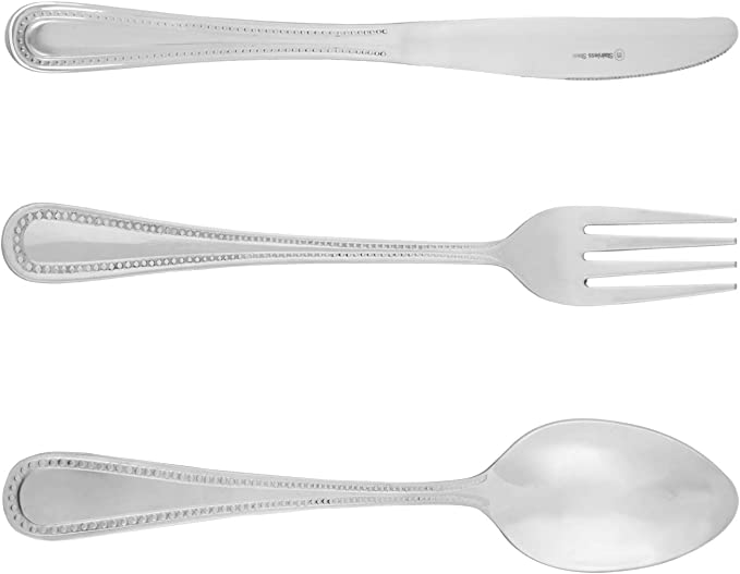 Melange Silverware Set Melange Urbane 60 Pieces Flatware Set Stainless Steel Cutlery Set Service For 12 Include Knife Fork Spoon Hand Mirror Polished Steel Color Flatware Sets