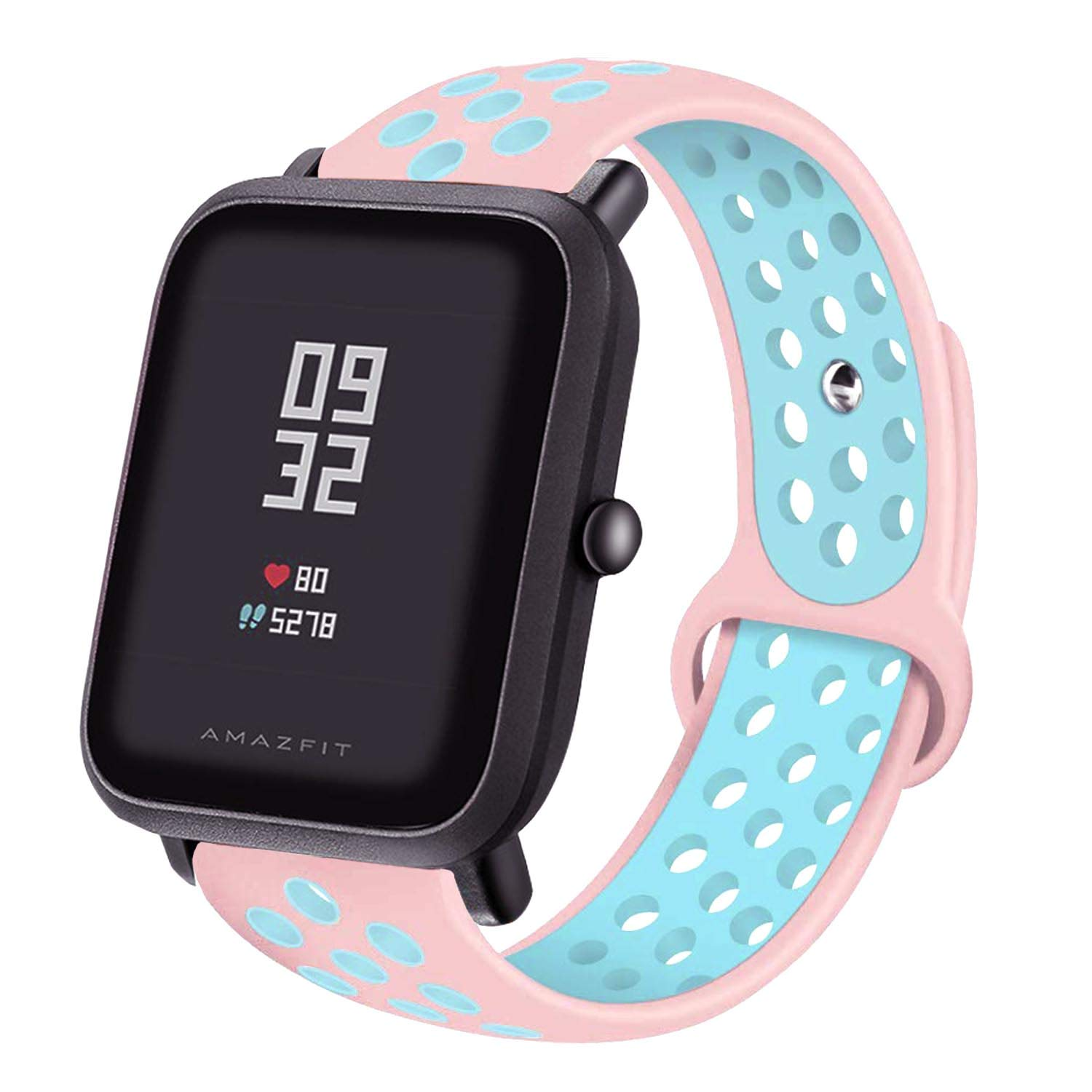 LitoDream Compatible Amazfit Bip Band, 20mm Silicone Soft Band Wristband Replacement Straps for Xiaomi Huami Amazfit Bip Younth SmartWatch ...