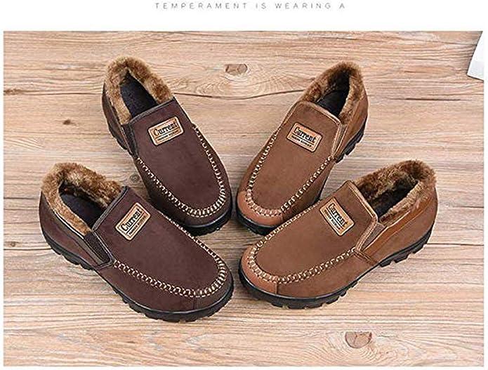 Zapatillas de Estar por casa Hombre Wool Lined Suede Mocas/ín Forro c/álido Invierno