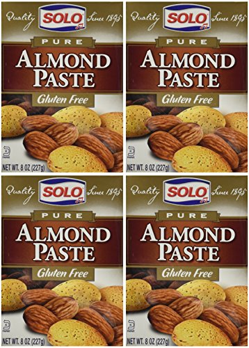 Solo Almond Paste, 8-Ounce Packages (Pack of 4) by SOLO