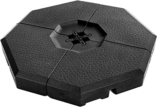 PAPAJET Cantilever Offset Umbrella Base Plate Set 4-Piece Sand Water Filled Octagon Weight Patio Umbrella Weights, Max Capacity 352lbs, Pack of 4