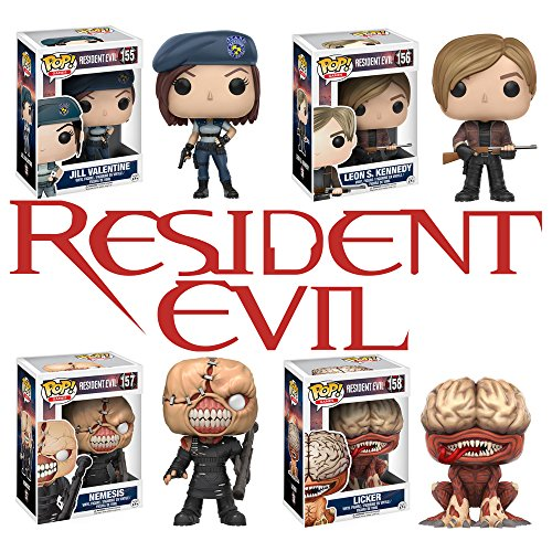 Pop Games Resident Evil Agent Jill Valentine Leon Kennedy Licker And Nemesis Set