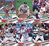 2017 Topps Update Series Boston Red Sox Team Set of 12 Cards: Mookie Betts(#US18), Chris Sale(#US87), Chris Sale(#US100), Yoan Moncada(#US125), Doug Fister(#US131), Tzu-Wei Lin(#US142), Andrew Benintendi(#US225), Hector Velazquez(#US243), Craig Kimbrel(#US269), Mitch Moreland(#US274), Sam Travis(#US289), Ben Taylor(#US295)