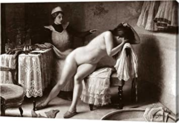 Crying Nude By Vintage Nudes 15x22 Gallery Wrapped Giclee Canvas Art Print