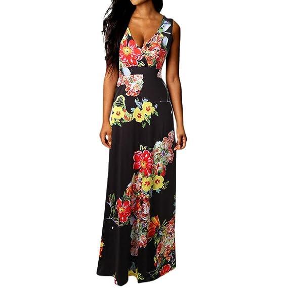 2aaadf4d9a18 JYC Vestidos Largos, Vestidos Mujer Verano 2018 Vintage Mujer Rayado  Bohemia Vestido,Mujer Boho