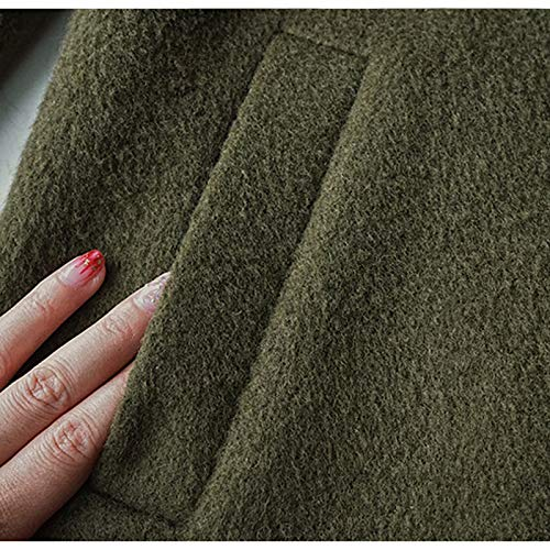 Cappotto armygreen Double Donna m Face Inverno Gaoqq Armygreen Con Cashmere m Alta Lana Qualità Di In df04q7