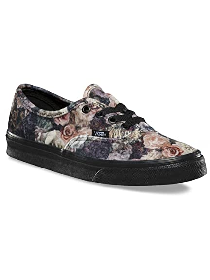 10a79056d66b Image Unavailable. Vans Authentic Womens 6 Velvet Floral Black Skateboard  Shoes