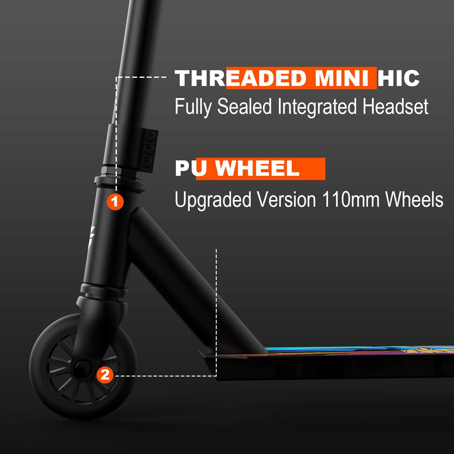 Teens and Adults Freestyle Kick Scooter for Kids Hiboy Pro Stunt Scooters Aluminum High Performance Intermediate and Beginner Trick Scooter