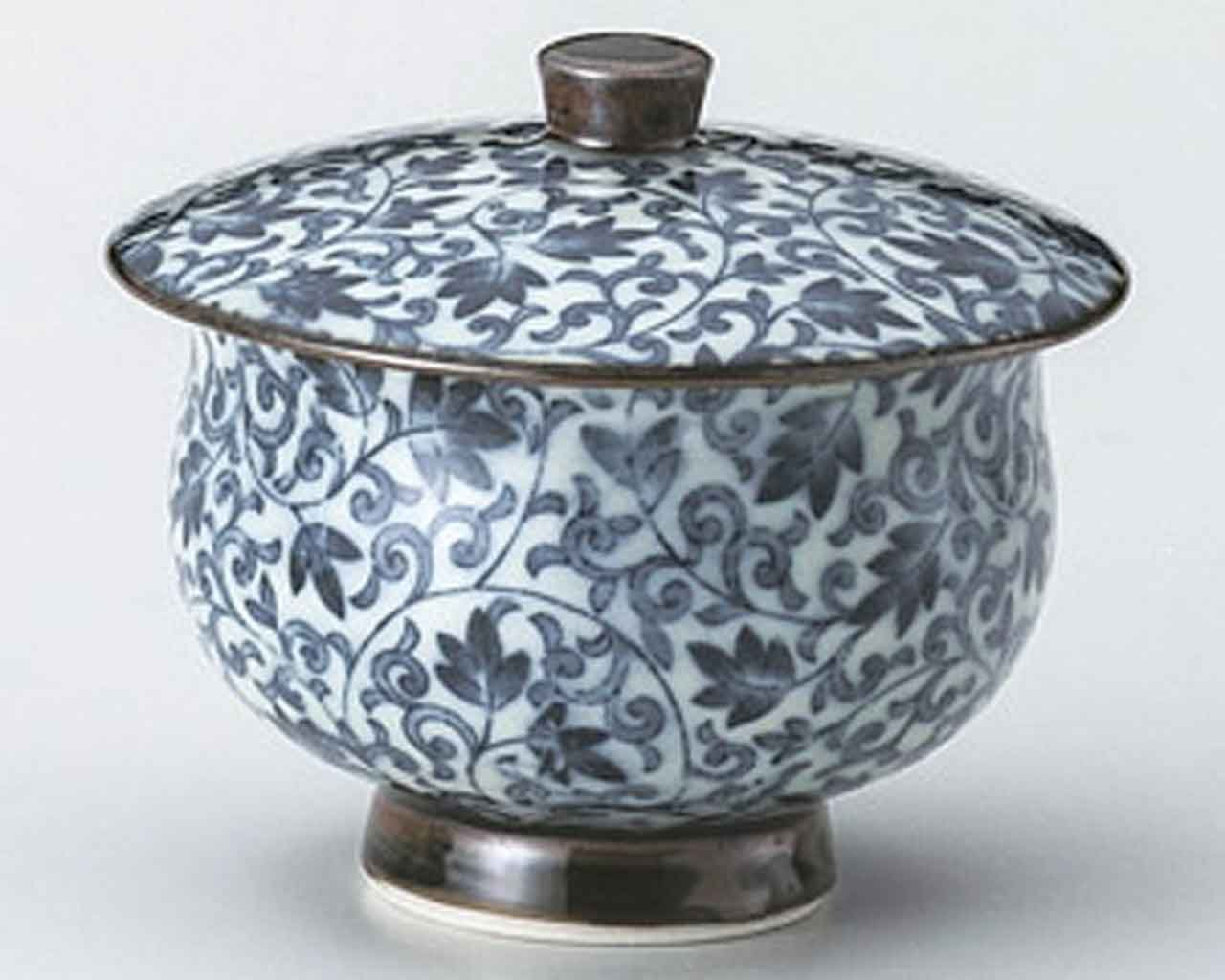 Karakusa 3.1inch Set of 5 Japanese Tea Cups White porcelain Made in Japan by Watou.asia (Image #1)