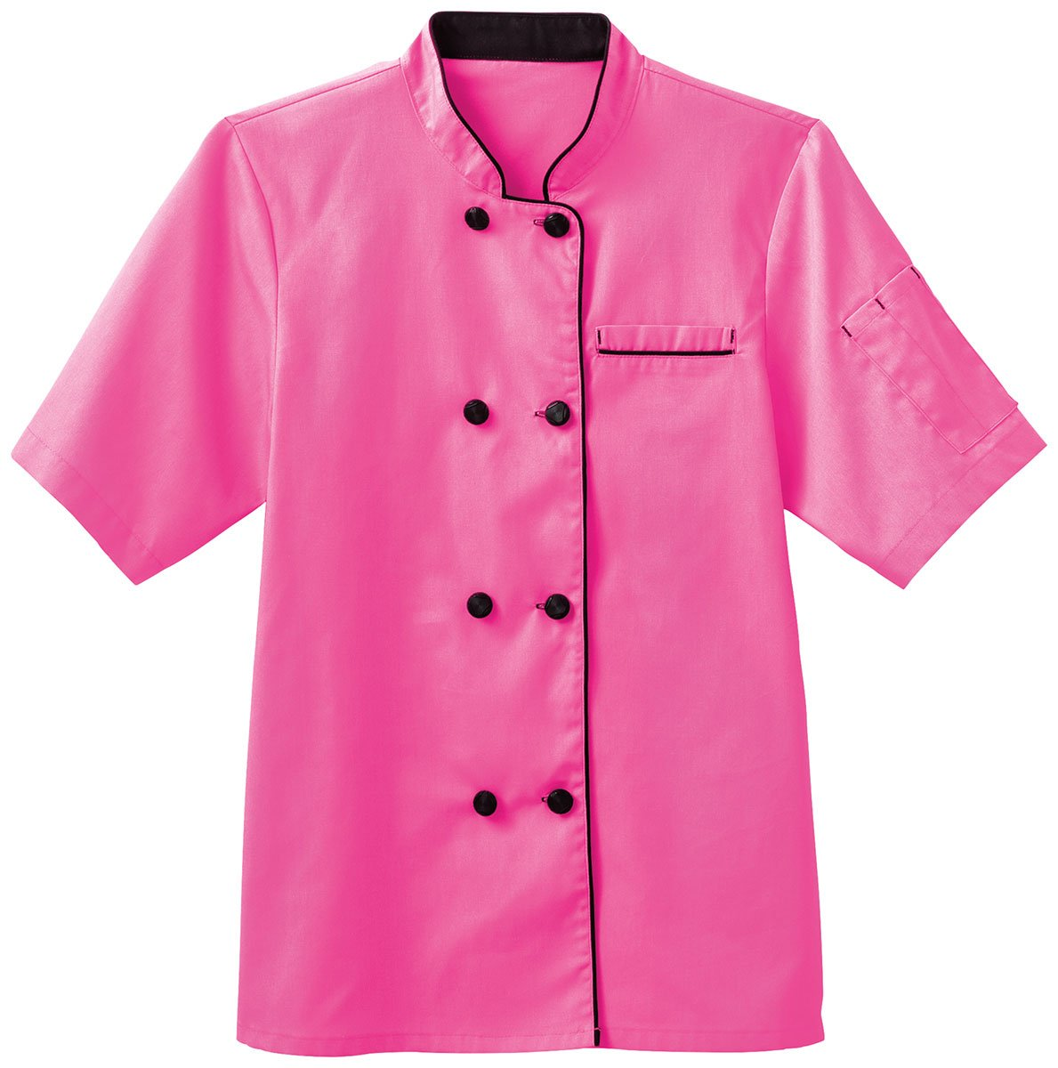 Five Star Chef Apparel Ladies Short Sleeve Executive Coat (Posh Pink, XXX-Large) by Five Star Chef Apparel