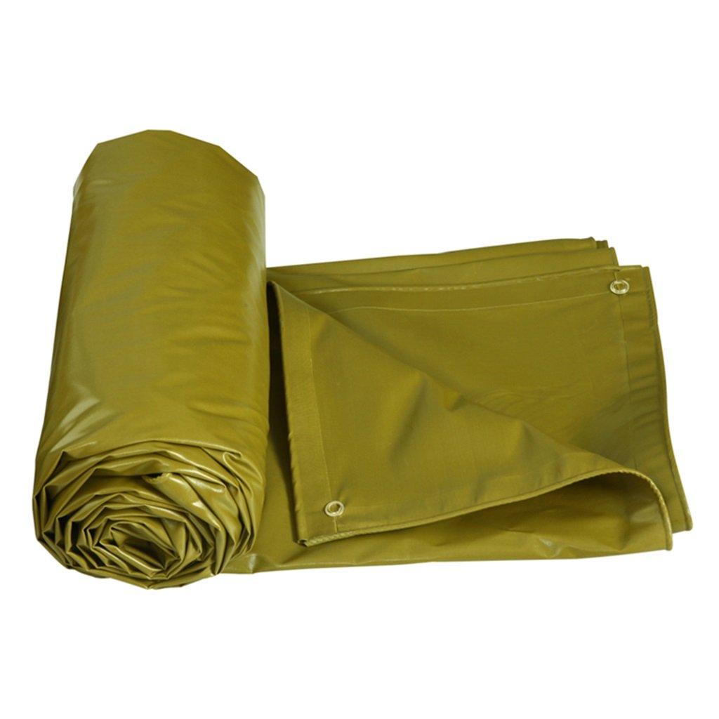 LQq-BÂches BÂche résistante imperméable jaune de Poncho de bÂche-faite de 520g m² pour camper,pêcher,jardinage-100% imperméable UV prougeégé pour le camping en plein air (taille   7X5M)  7X5M