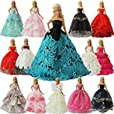 ZITA ELEMENT Lot 5 Handmade Fashion Party Dress Outfit for 11.5 Inch Girl Doll Clothes Xmas Gift- Random Style