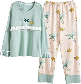 Pijamas para Mujer, Algodón Princesa Viento Gran Tamaño Moda ...