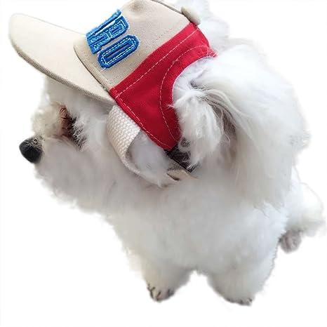 feiling Mascotas Béisbol Sombrero para Gatos Cachorros Disfraz Accesorio sunb onnet pequeños Perros Tocado Cinta Sombrero