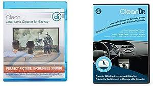 Digital Innovations CleanDr for Blu-Ray Laser Lens Cleaner for Blu-Ray/DVD / PS3 / PS4 / Xbox/Xbox 360 / Xbox ONE (4190300) & CleanDr for Car Audio & Video Laser Lens Cleaner 4190500