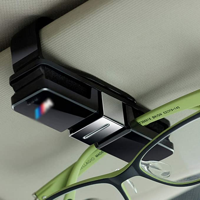 e670422b0af tuksumduinpharmaukltd M Sport Sunglasses Card Holder Clip Eye Glasses Sun  Visor Mount Case Box  Amazon.co.uk  Car   Motorbike