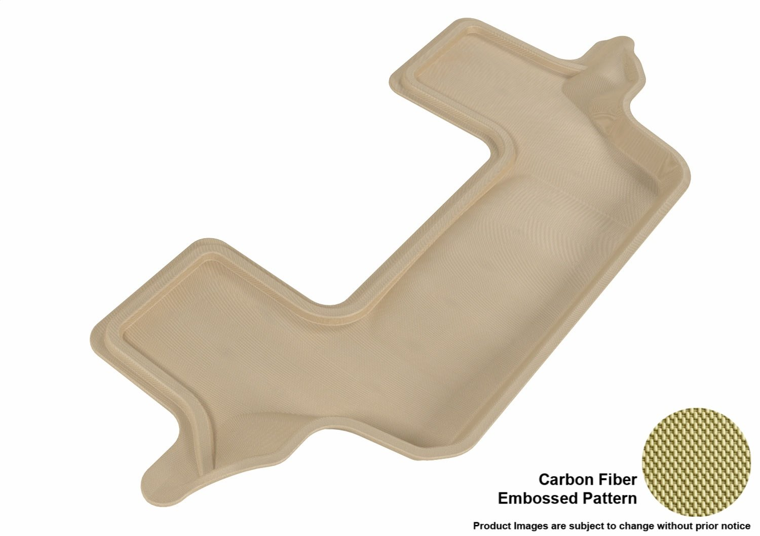 Tan 3D MAXpider Front Row Custom Fit All-Weather Floor Mat for Select Ford Flex Models L1FR02111502 Kagu Rubber