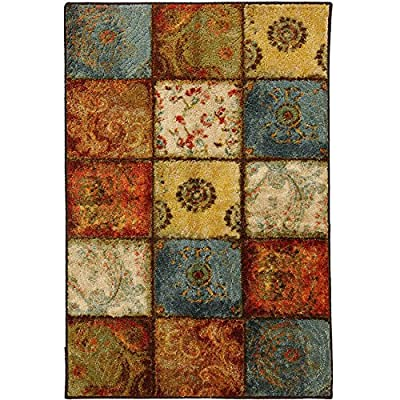 Multi Accent Rug, 1'8x2'10, Mosaic Tile, Geometric Pattern, Small Rug, Durable. Great for a Front Door Welcome Mat Into Your Home. Use in the Bathroom, Living Room, Kitchen or Any Room of Your Home. Adds great color for your home!