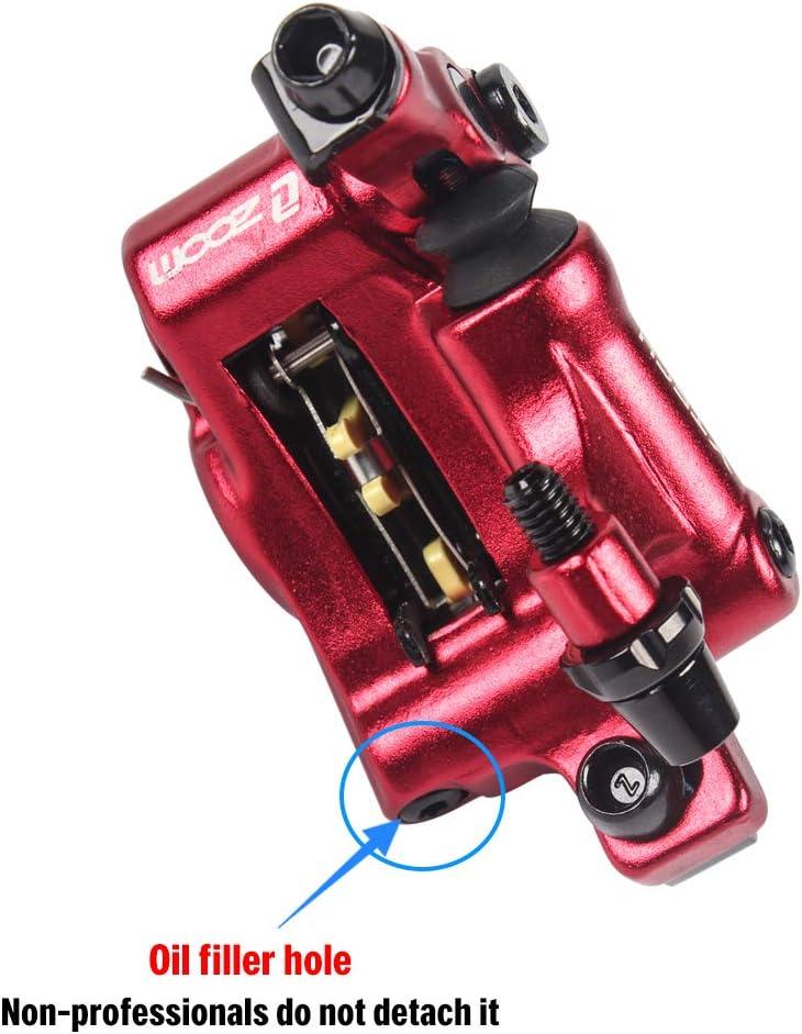 VTT Pliant Frein hydraulique pour v/élo /Étriers Avant arri/ère Explopur Frein /à Disque hydraulique pour v/élo Rouge