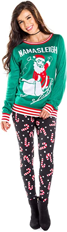 2X LEGGINGS Sweater Knit Christmas Stockings Snowflakes Holiday X-Mas Print Pant